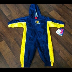 NWT boys 12months Indians pacers zip tracksuit